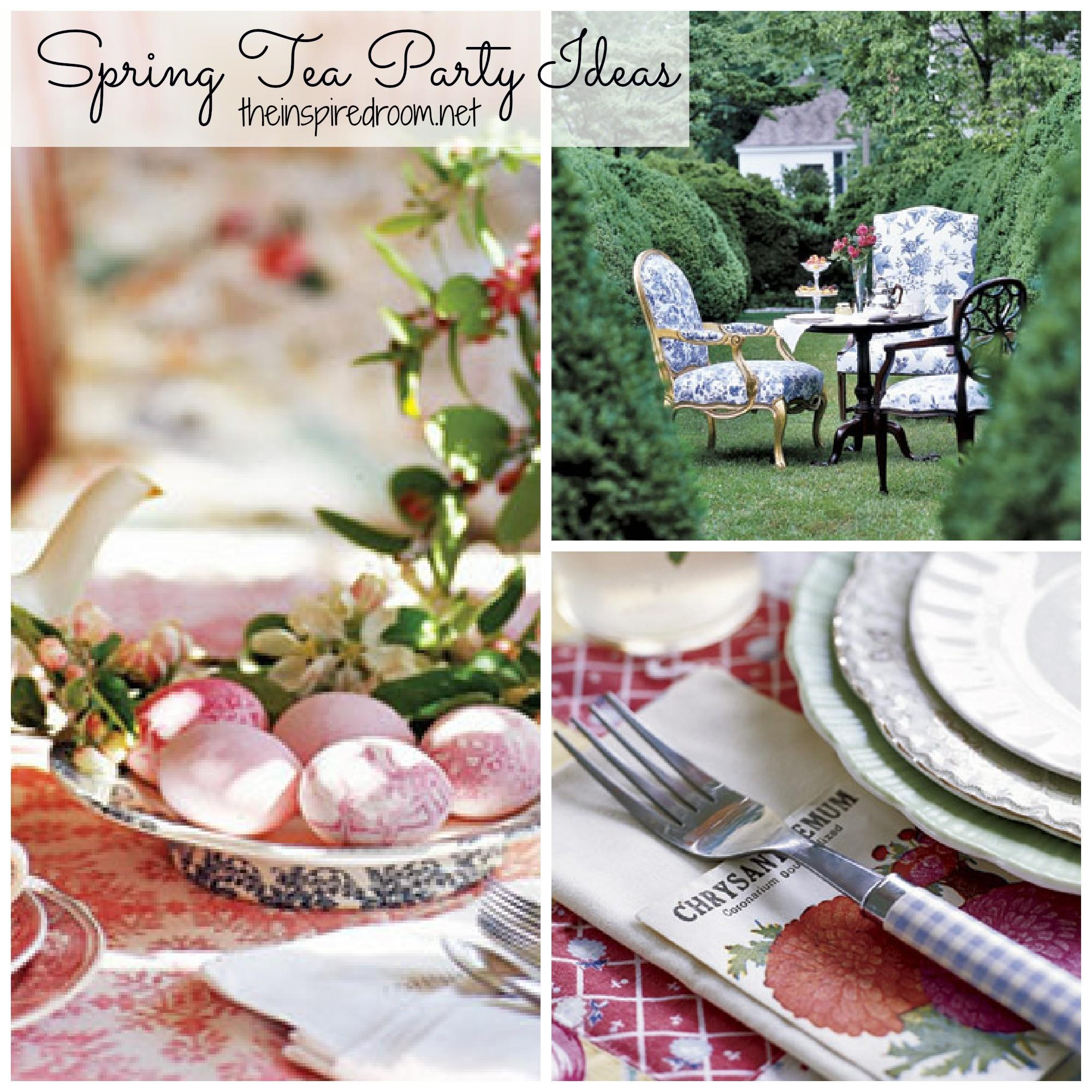 Spring Time Tea Parties Sweet Ideas Inspired Room