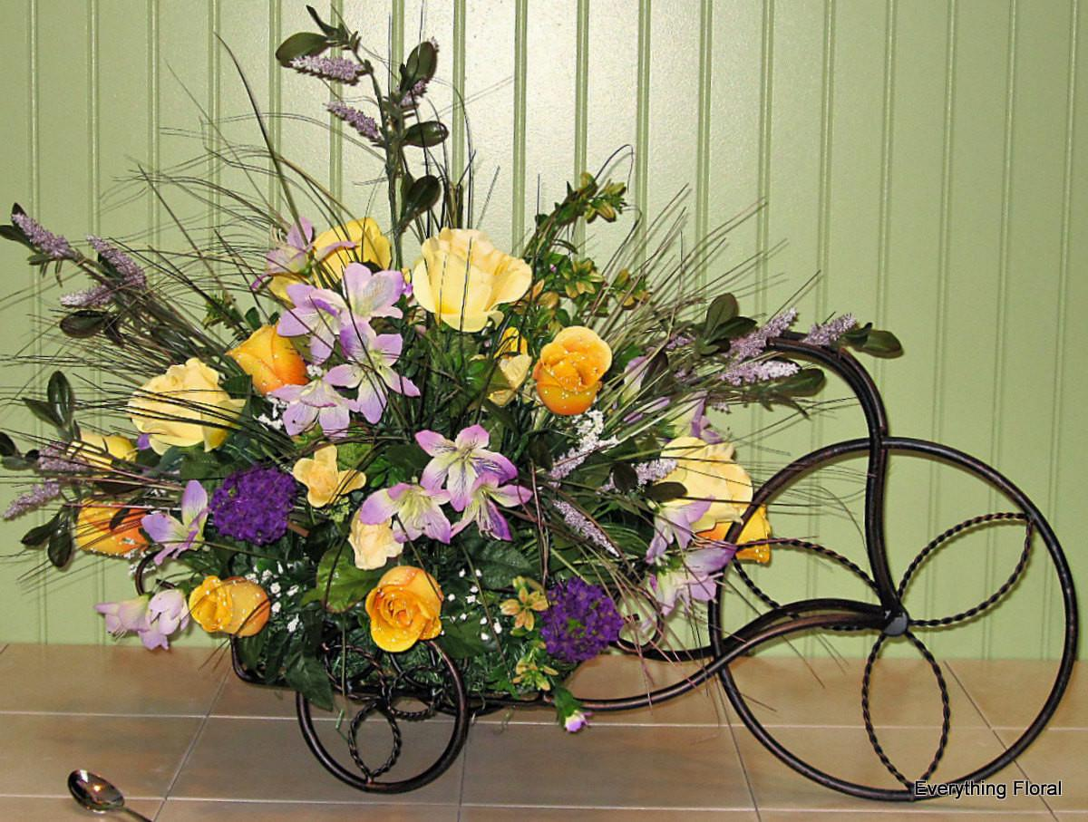 Spring Tricycle Flower Arrangement Large Everythingfloral