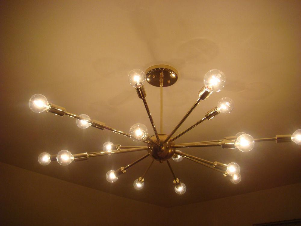 Sputnik Light Chandelier Diy Spray Painted