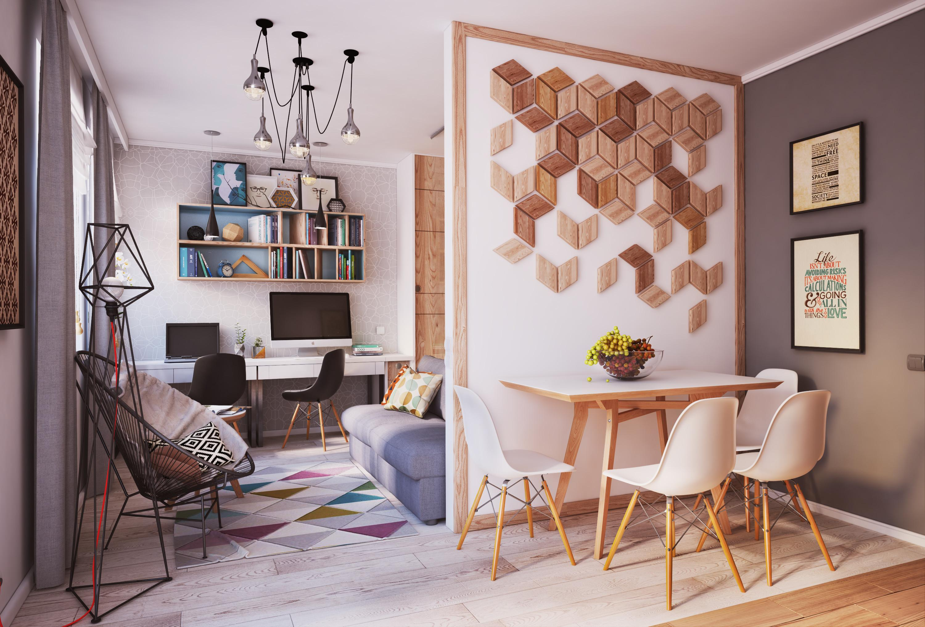 Sqm Modern Small Apartment Interior Design Idea