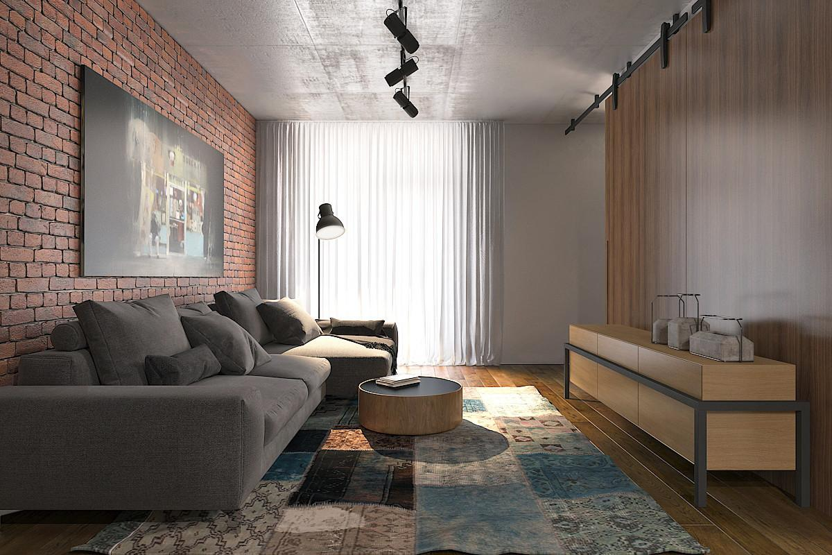 Sqm Small Apartment Interior Design Luxury Modern