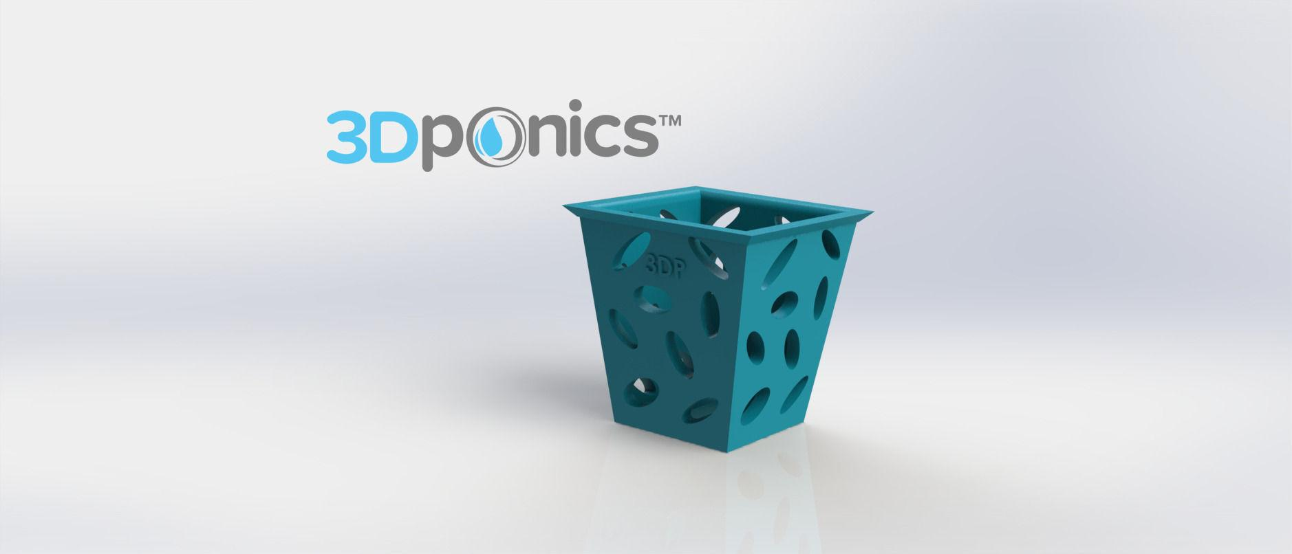 Square Planter 3dponics Non Circulating