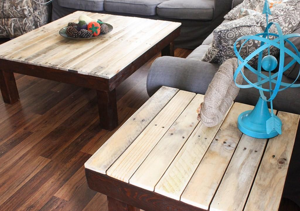 Square Rustic Coffee Table Sets