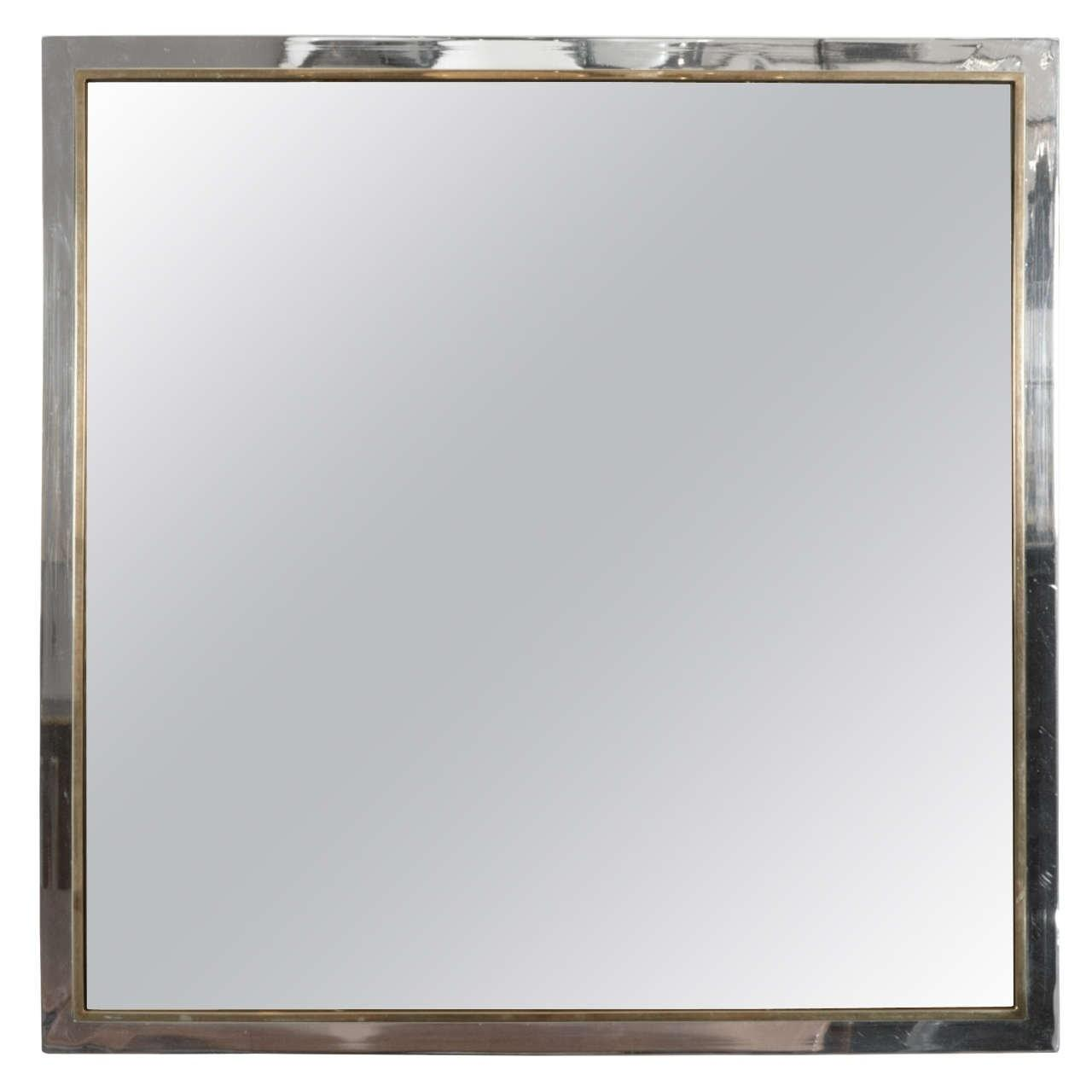 Square Shaped Mirror Tinted Silvering 1stdibs