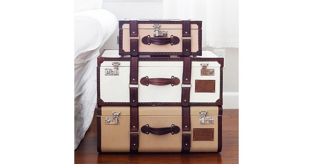 Stack Trunks Vintage Suitcases Diy Side Table