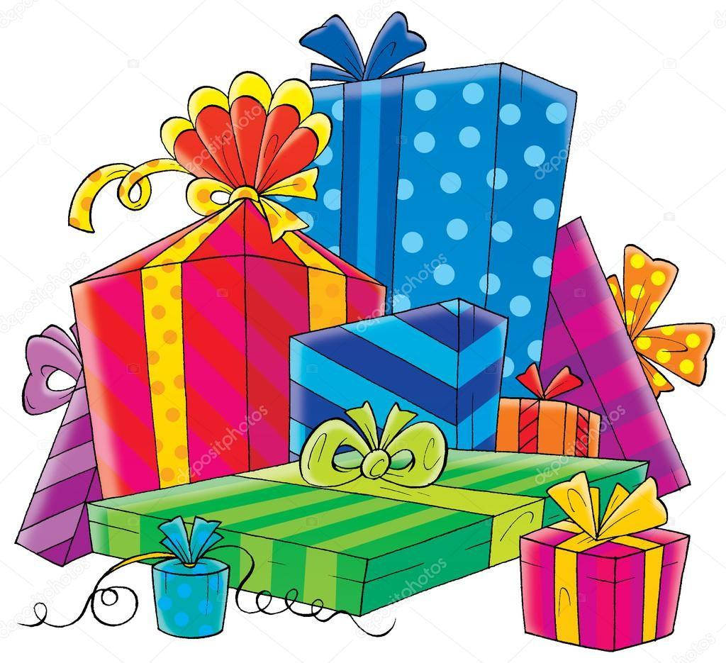 Stacked Gift Boxes Clipart