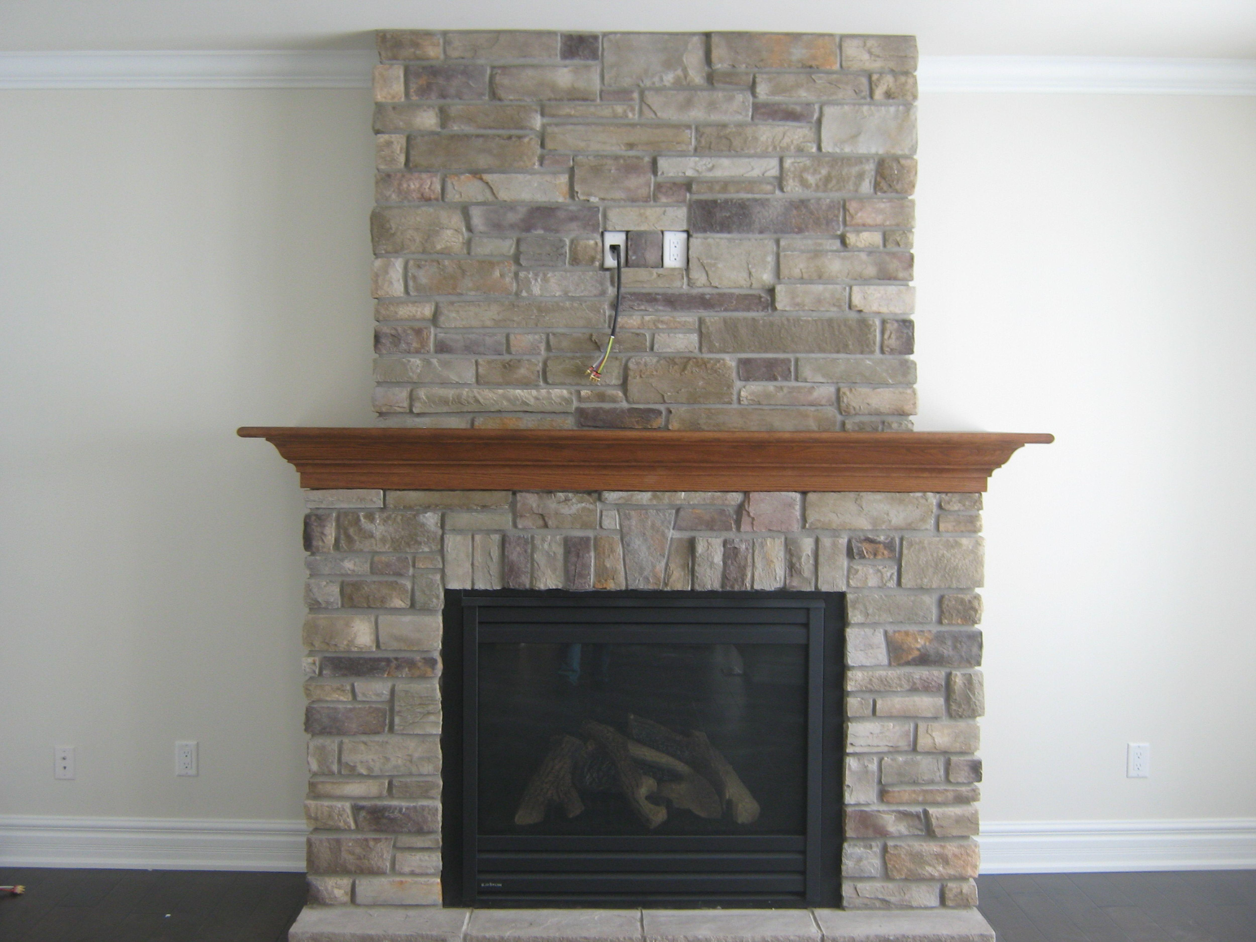 Stacked Stone Fireplace Designs Home Design