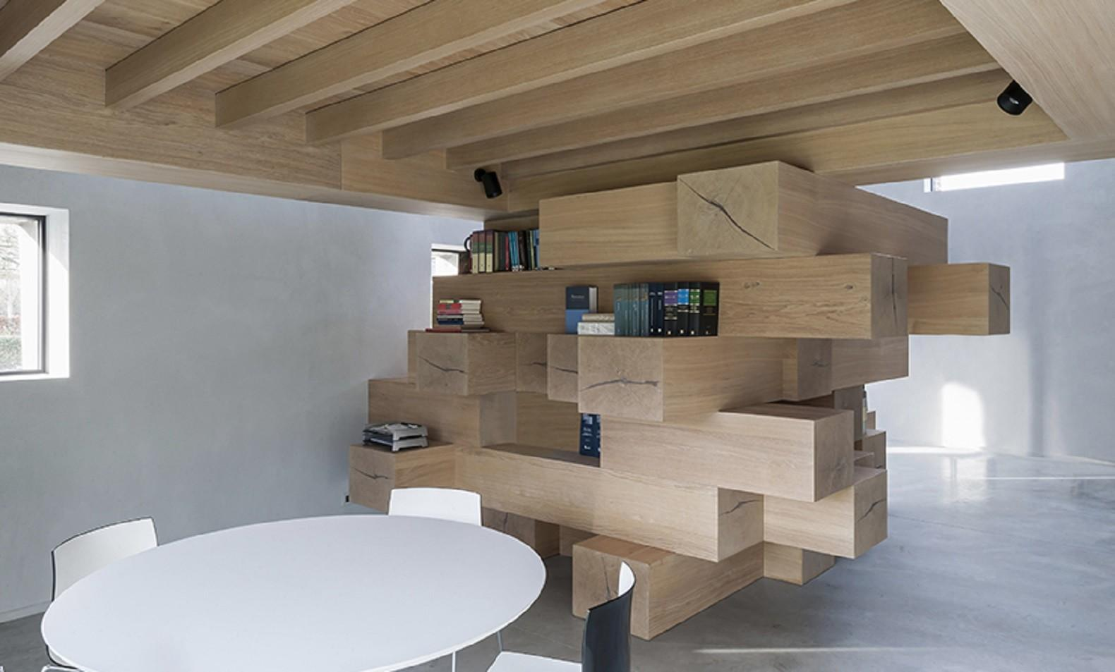 Stacked Timber Beams Act Multi Office Furniture