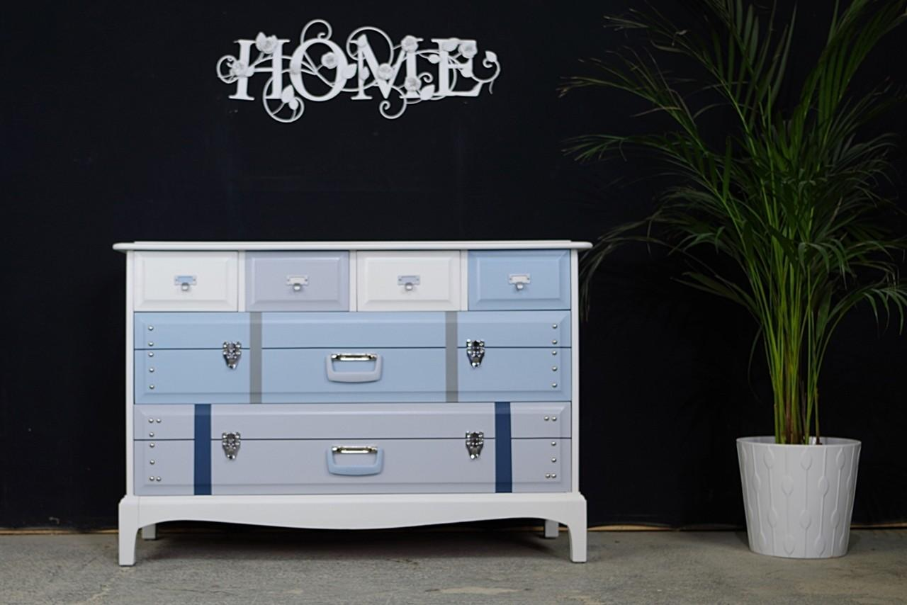 Stag Travel Themed Six Drawer Chest Order Painted
