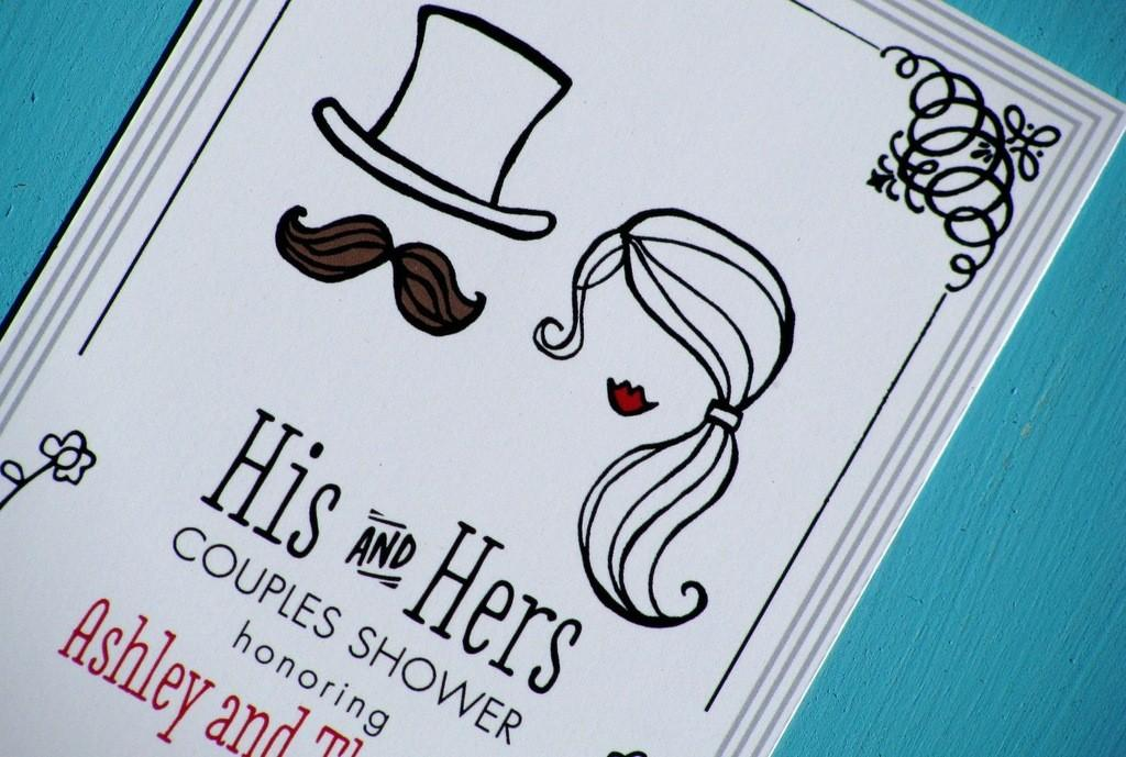 Staggering His Hers Wedding Invitations Which