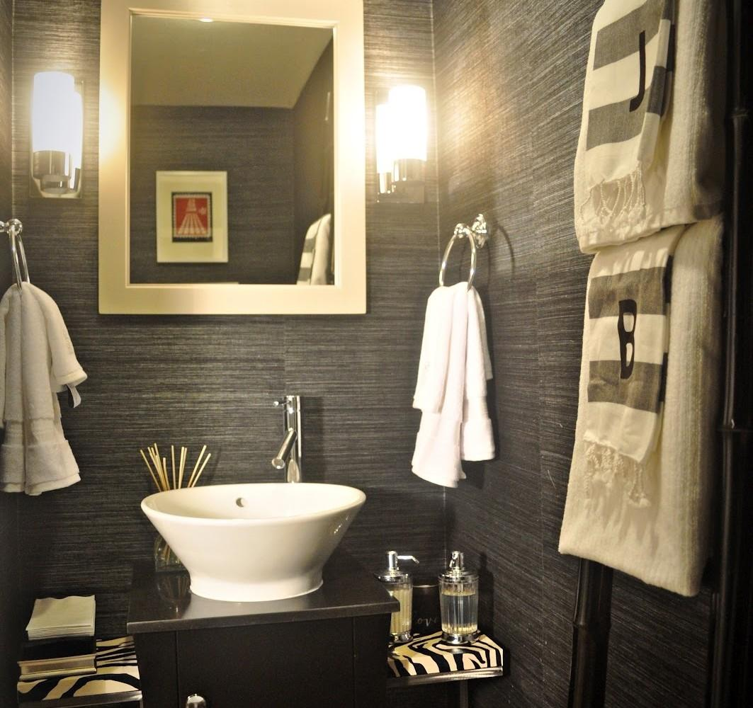 Staggering Wooden Vanity Adds Vibe Powder Room Hot