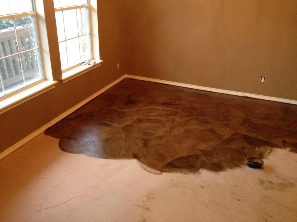 Stain Concrete Floor Diy Tile Ideas