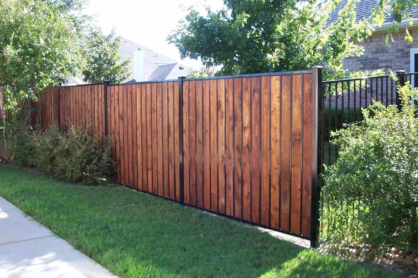 Stained Cedar Fence Colors Home Gardens Geek