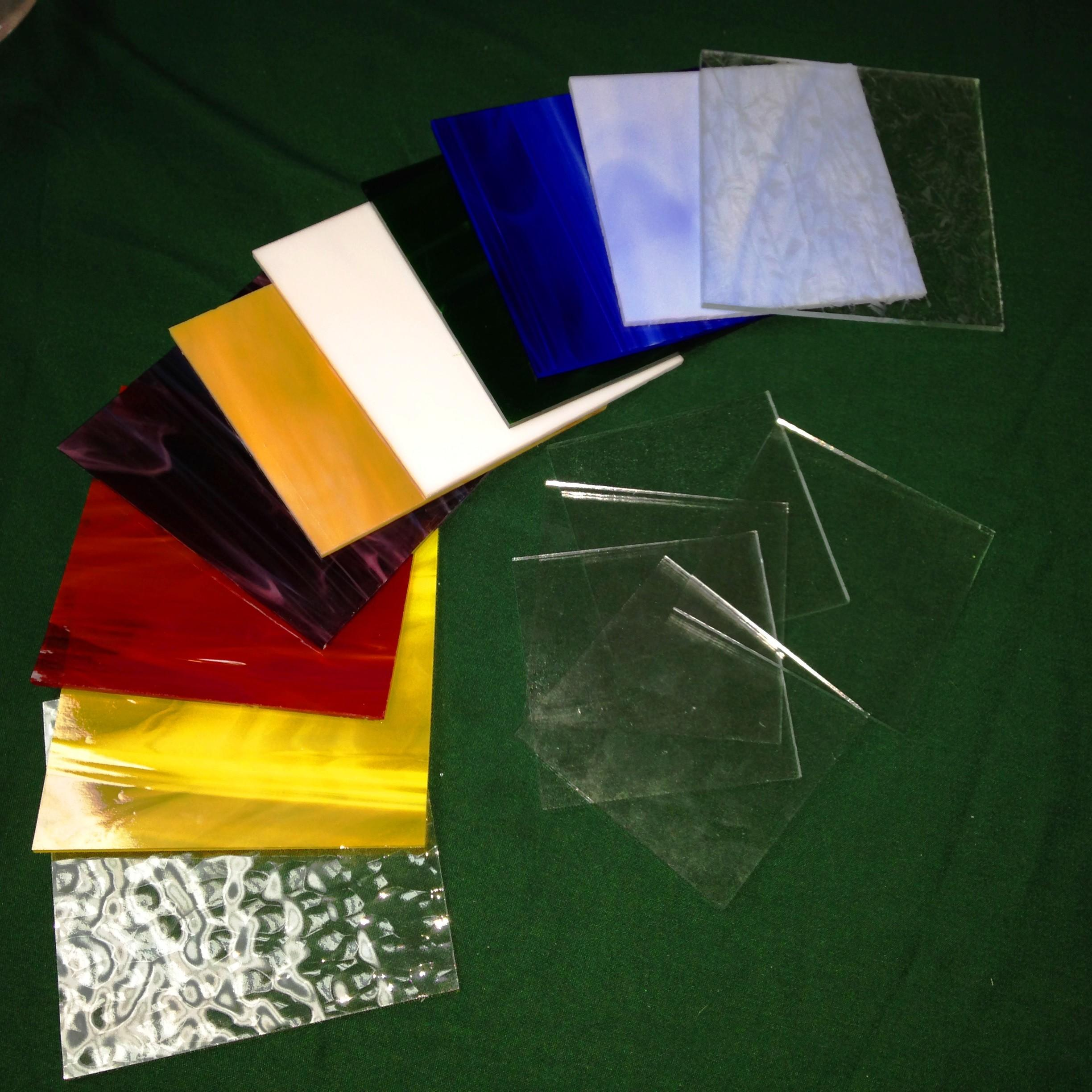 Stained Glass Sampler Pack Colors Inch Squares