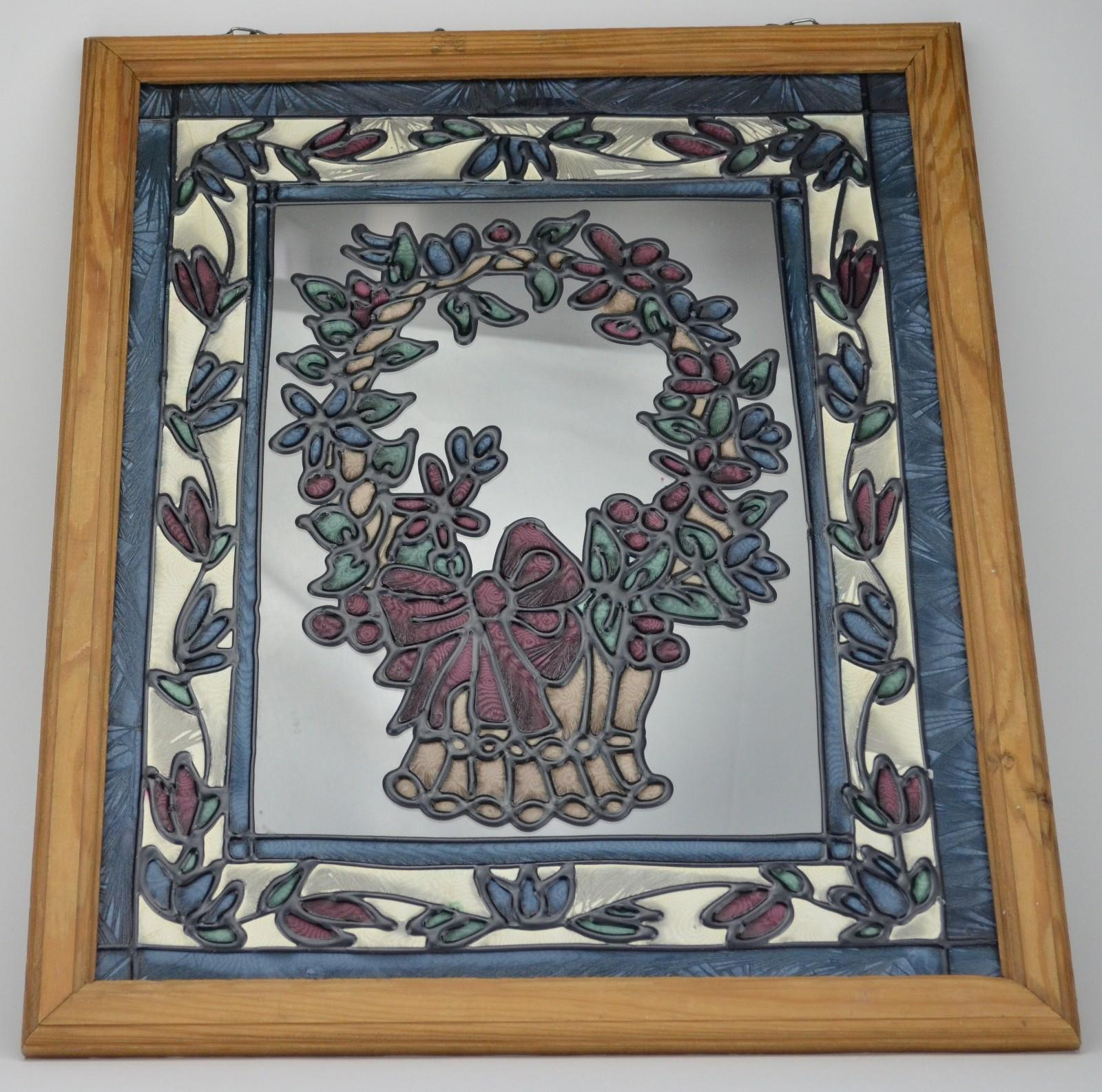 Stained Glass Style Window Decoration Basket Design Wall
