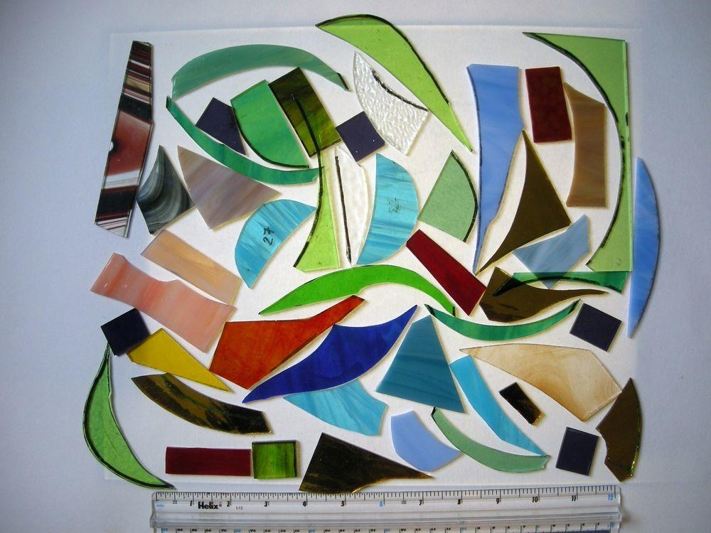 Stained Glass Tools Supplies 1kgs Offcuts