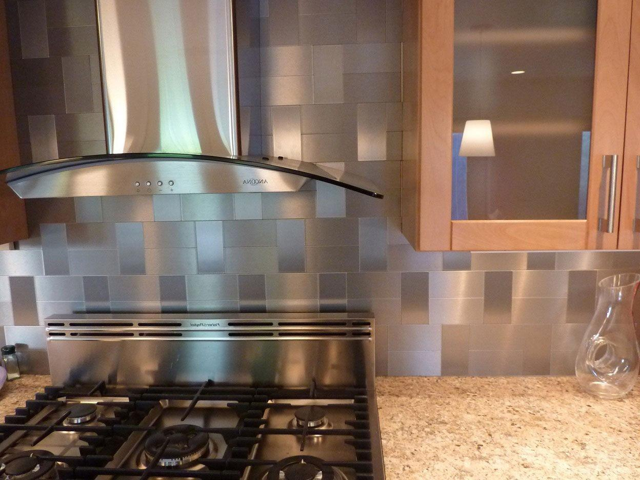 Stainless Steel Backsplash Sheets Classic Chandelier