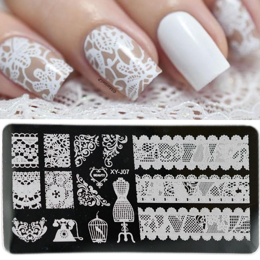 Stainless Steel Beauty Lace Nail Art Diy
