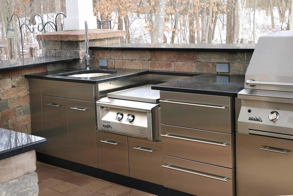 Stainless Steel Kitchen Cabinets Glass Doors Home