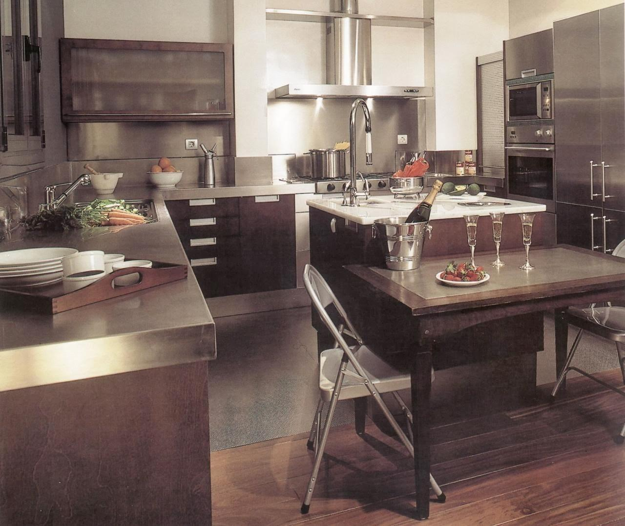 Stainless Steel Kitchen Countertop Sus Backsplash