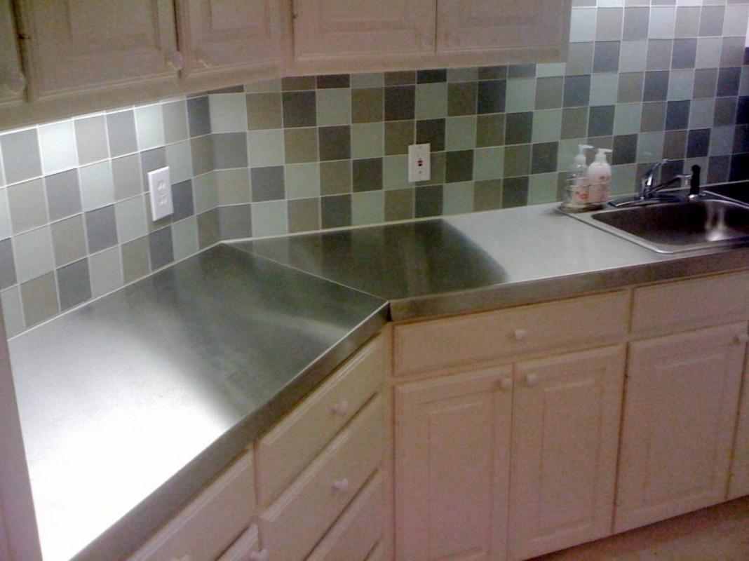 Stainless Steel Kitchen Countertops Including Custom