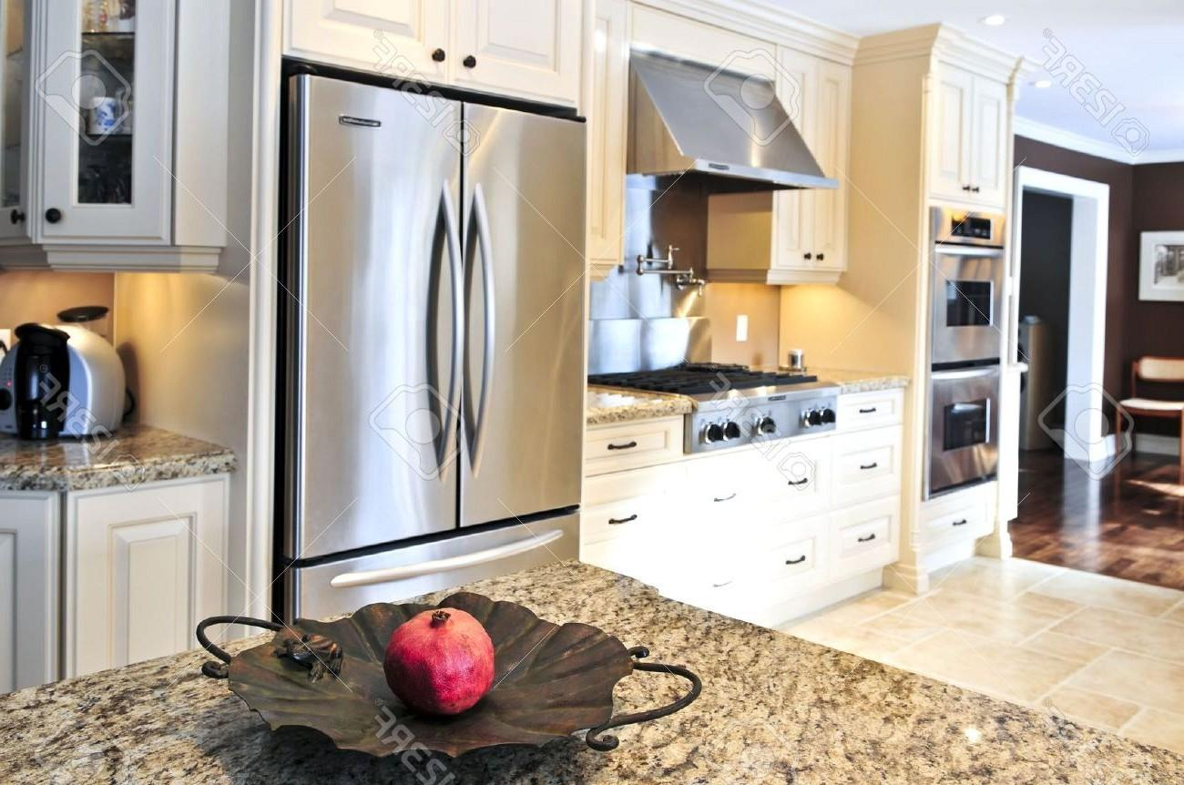 Stainless Steel Oven Built Kitchen Cabinet Brown