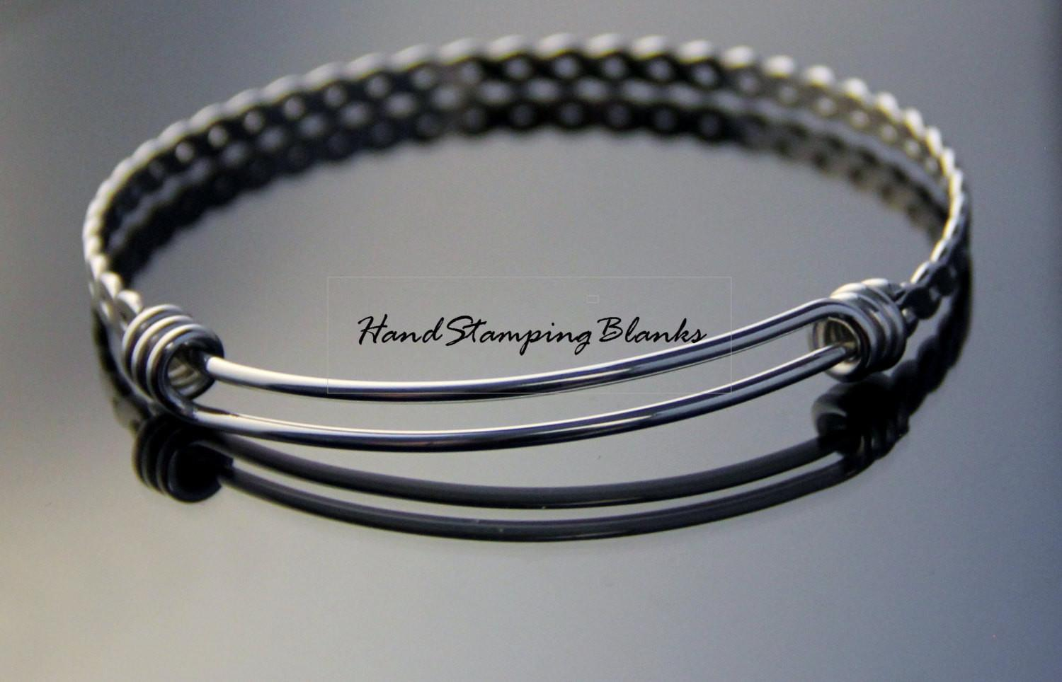 Stainless Steel Twisted Expandable Bangle 60mm Bracelet