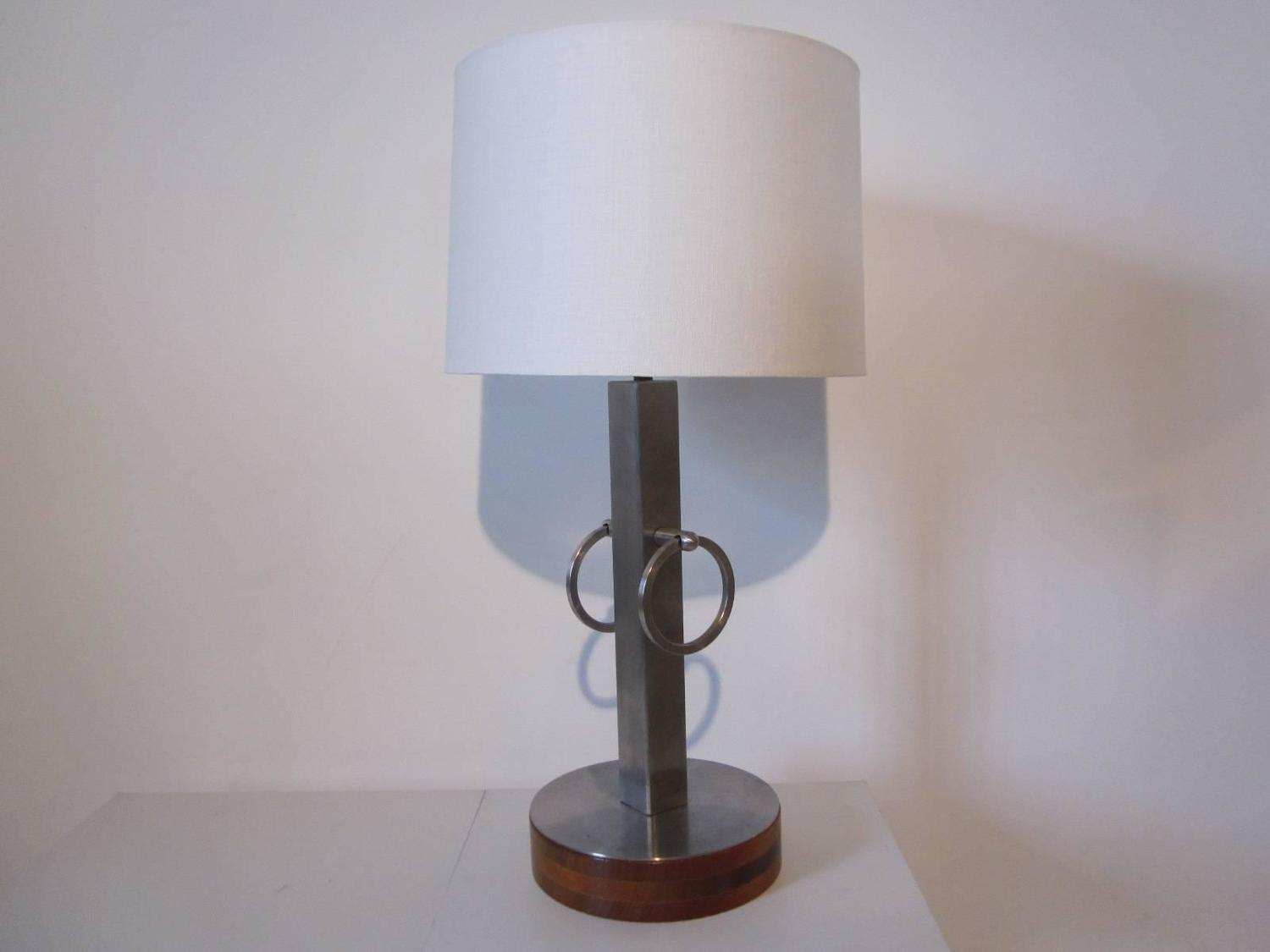 Stainless Wood Ring Table Lamp 1stdibs