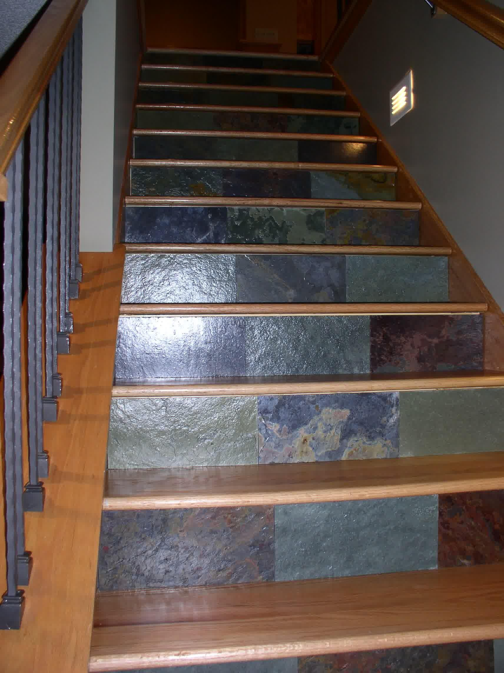 Stair Risers Ideas Home Decorations Insight