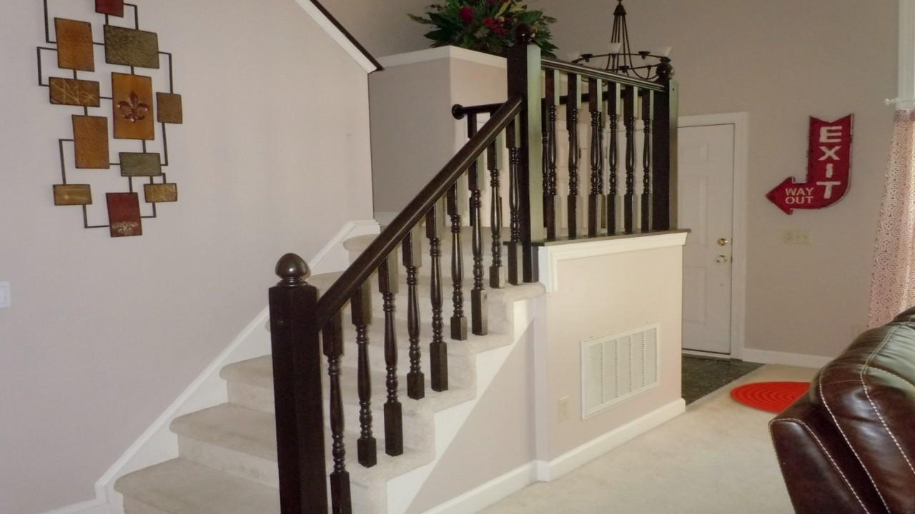 Staircase Hand Rail Remodelaholic Diy Stair Banister