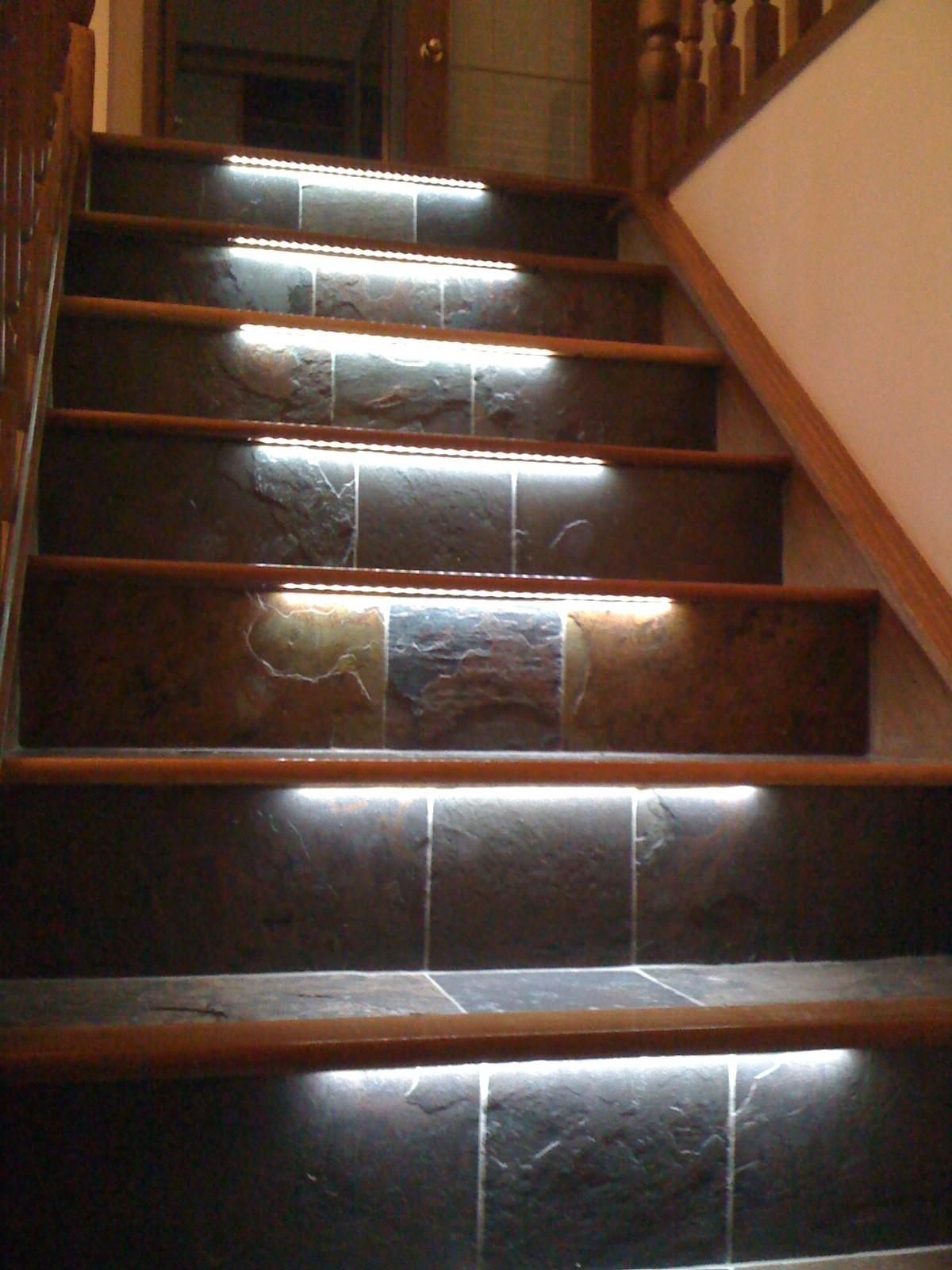 Staircase Led Lights Sparkle Words Social