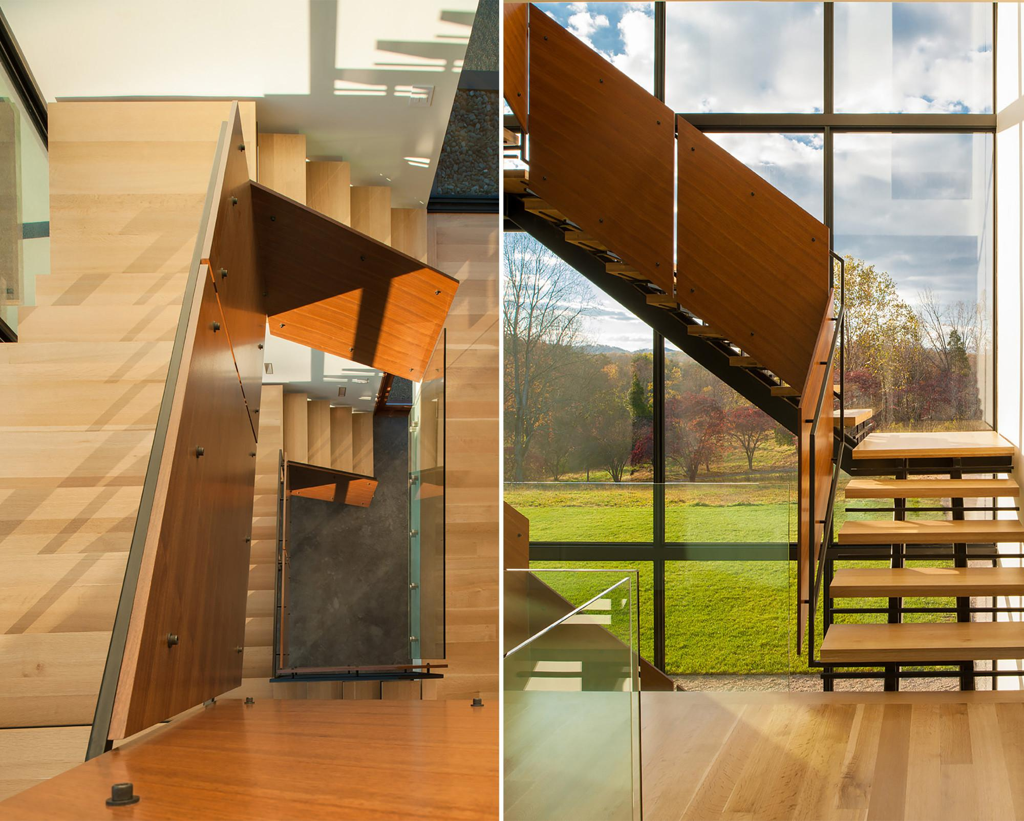 Staircase Railing Indoor Wood Stair Designs Modern