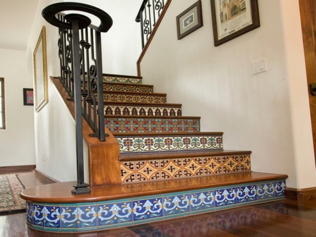 Stairs Garland Decoration Painted Stair Railing Ideas