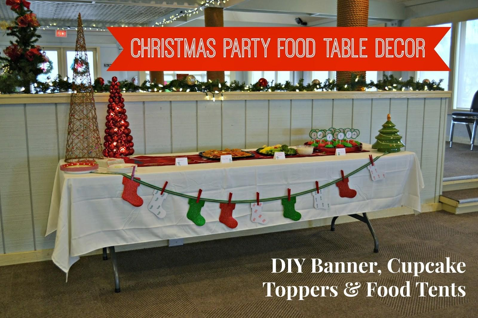 Stamp Camp Christmas Party Food Table Decor