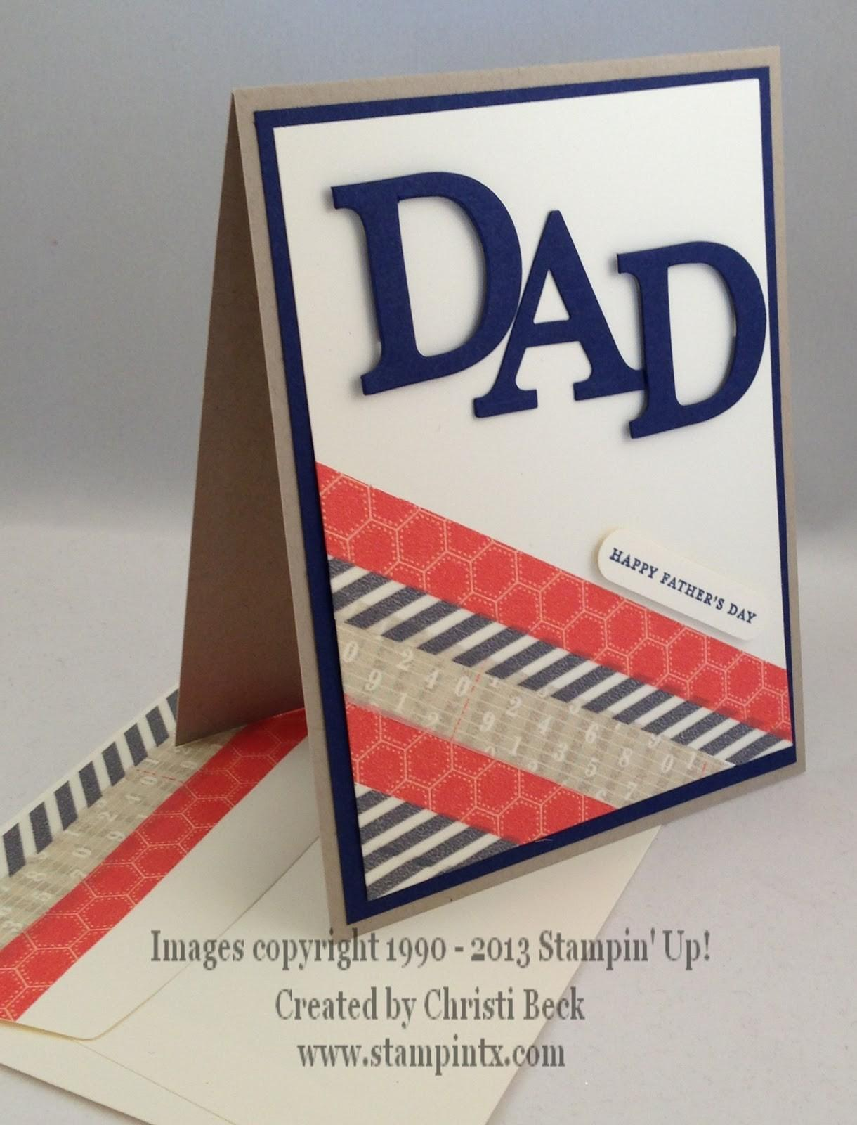 Stampintx Father Day Card Ideas
