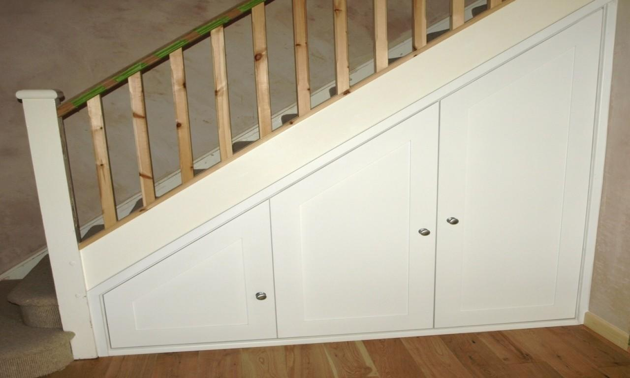 Stand Alone Cupboards Door Under Stairs Storage Ideas Diy