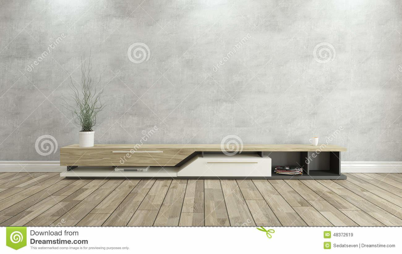 Stand Concrete Wall Design Rendering Stock