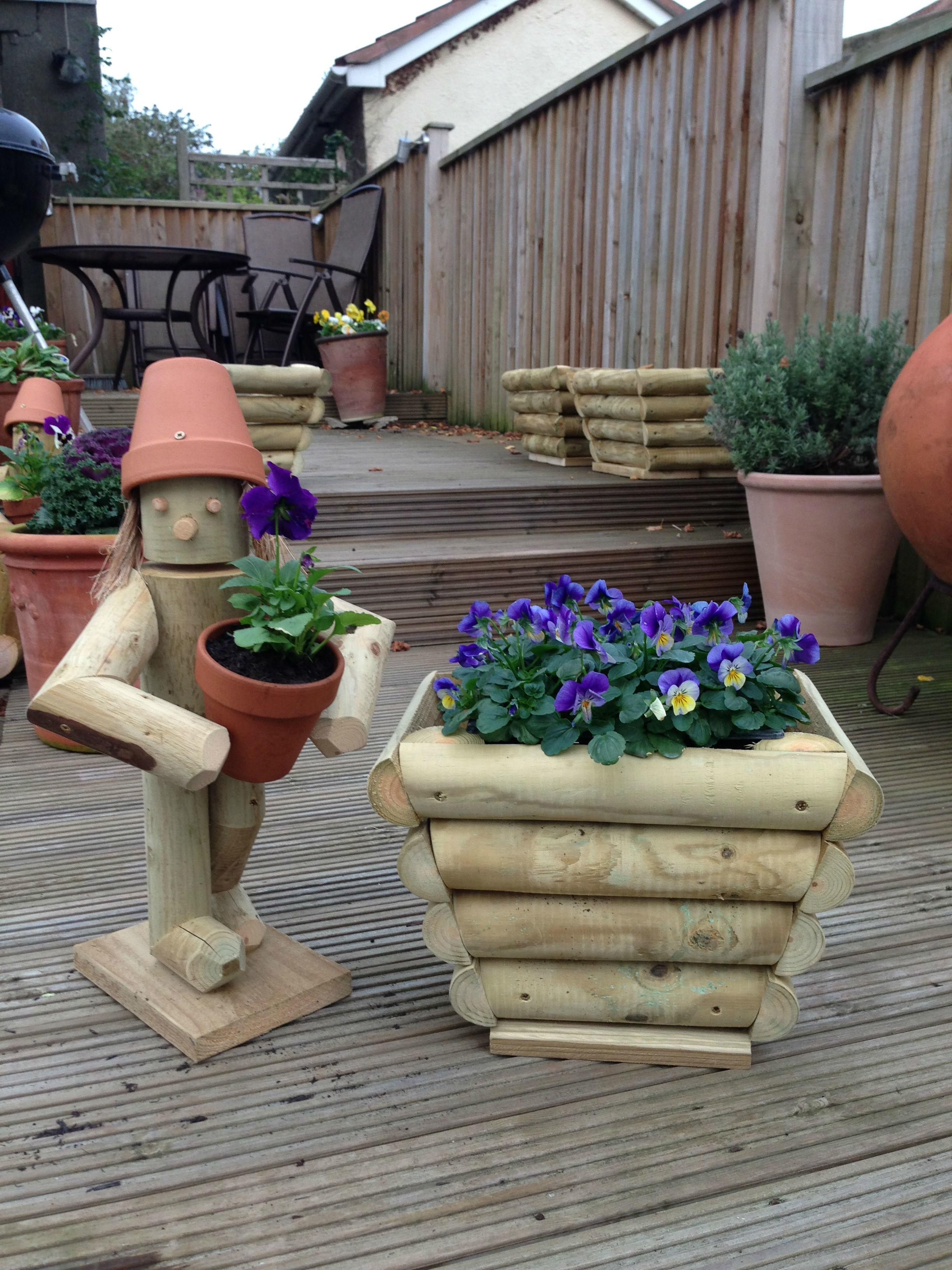 Stand Flowerpot Man Small Planter