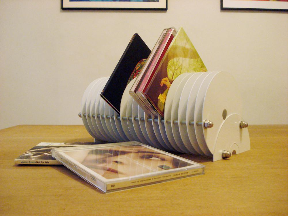 Stand Made Old Discarded Cds All