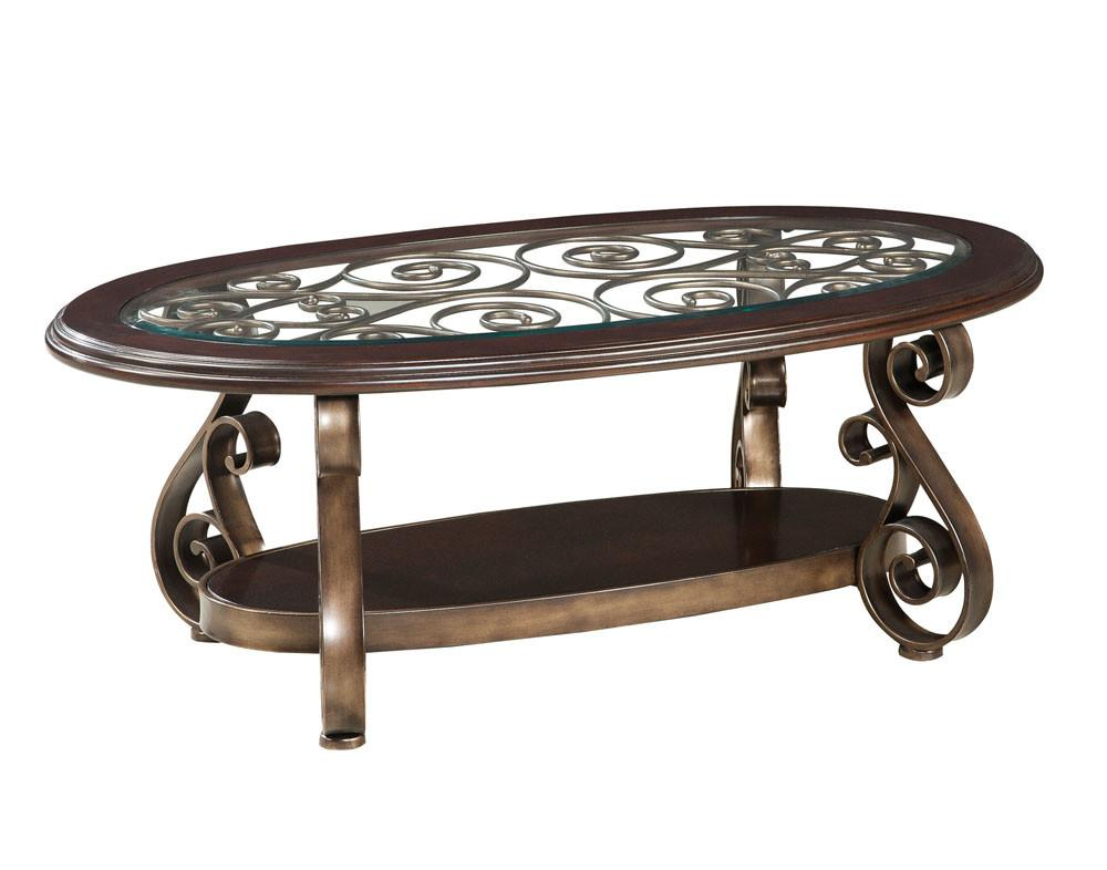 Standard Furniture Bombay Piece Glass Top Coffee Table
