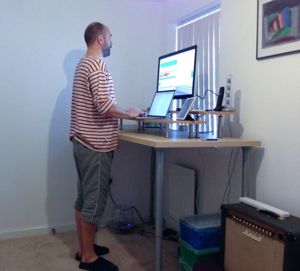 Standing Desk Hack Howling Your Office Then