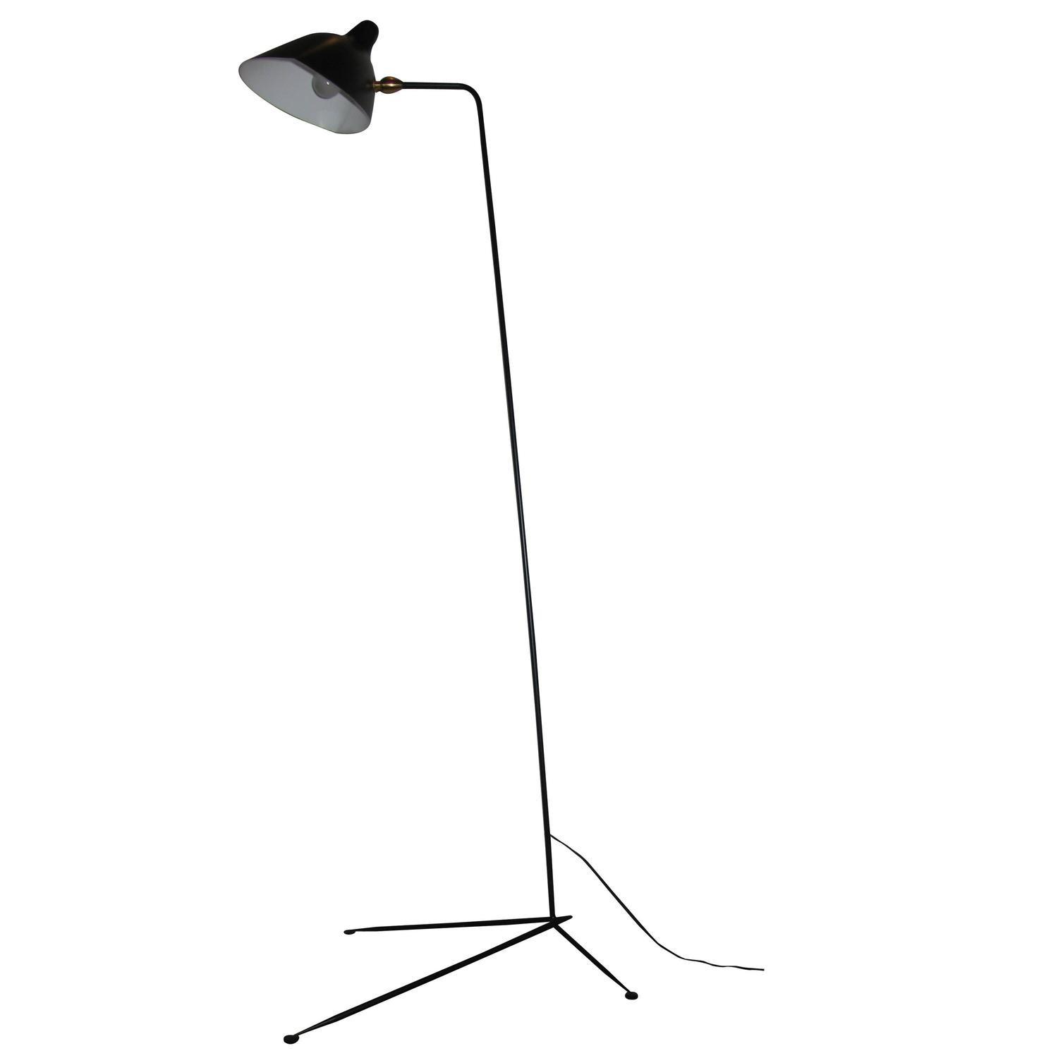 Standing One Arm Lamp Serge Mouille Sale 1stdibs
