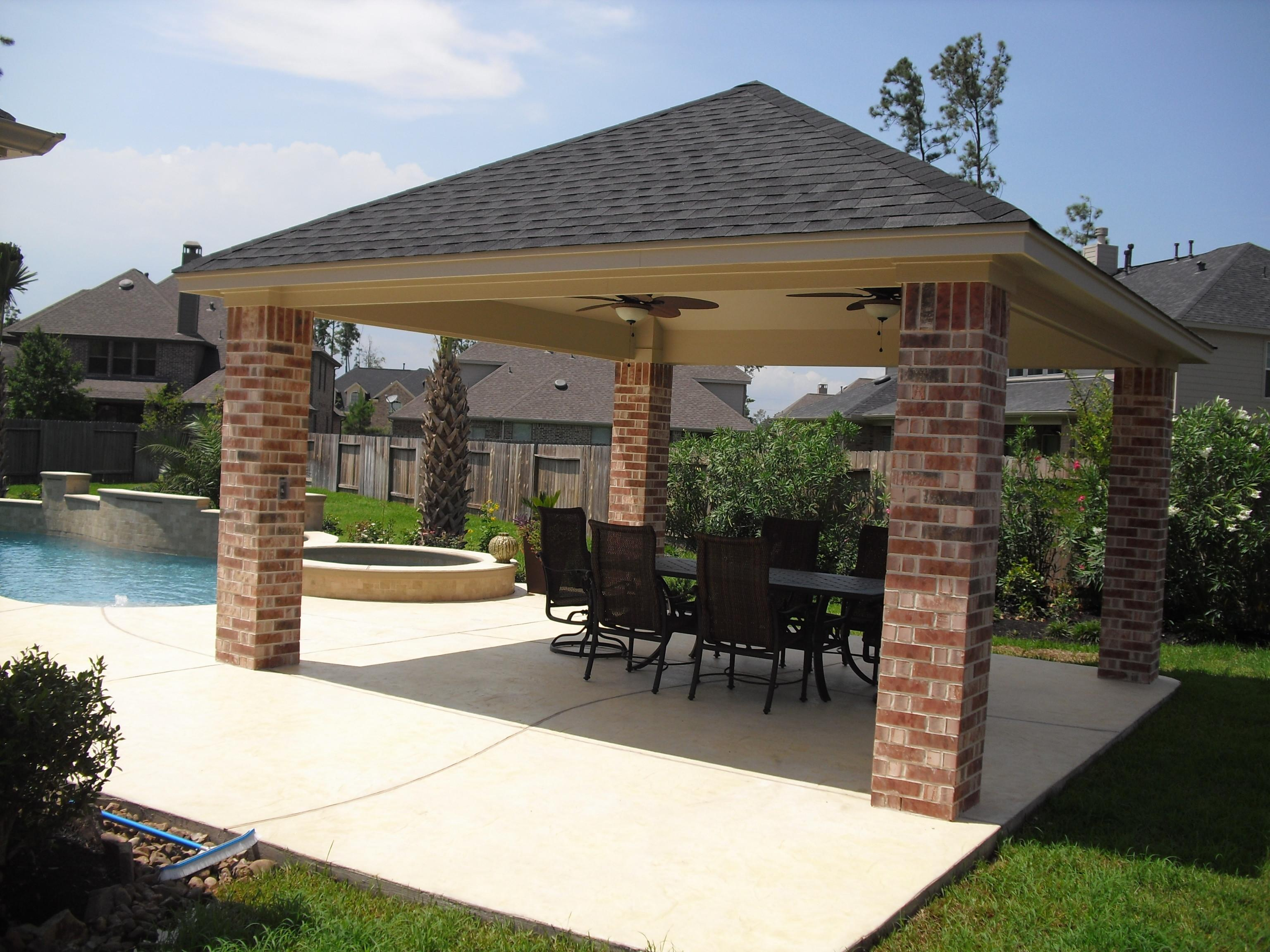 Standing Patio Covers Gazebos Pool Cabanas