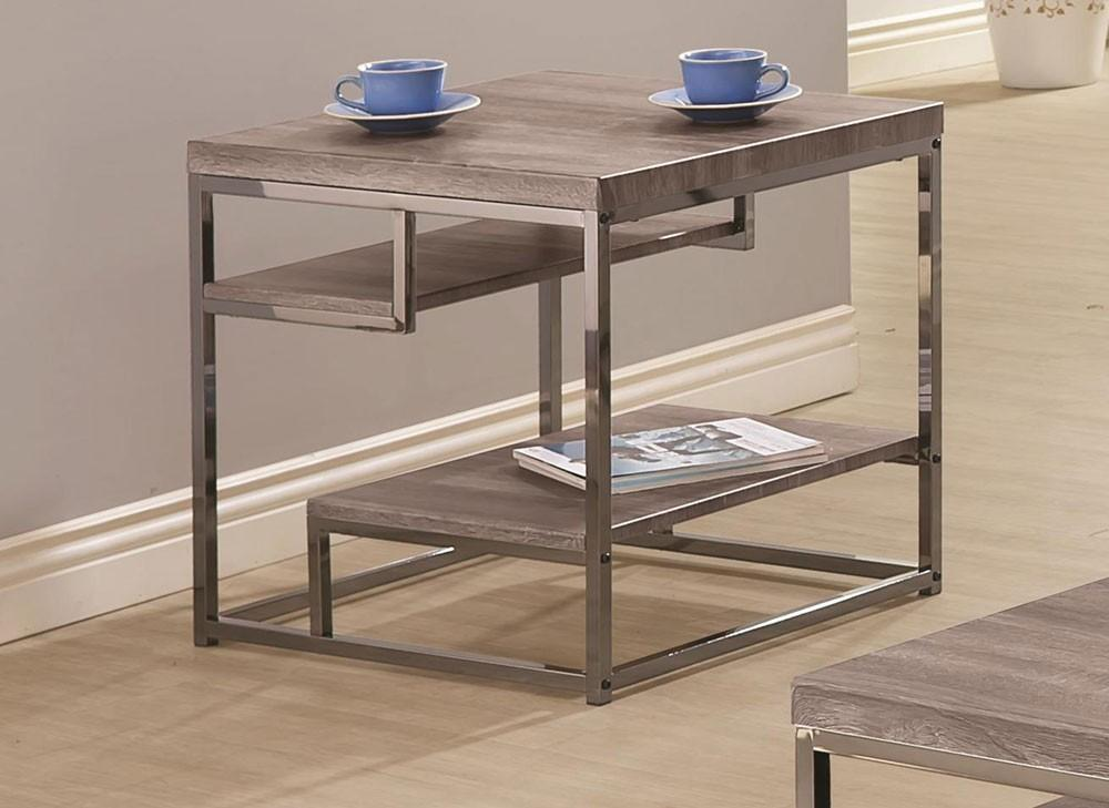 Star Rustic Grey Modern Coffee Table