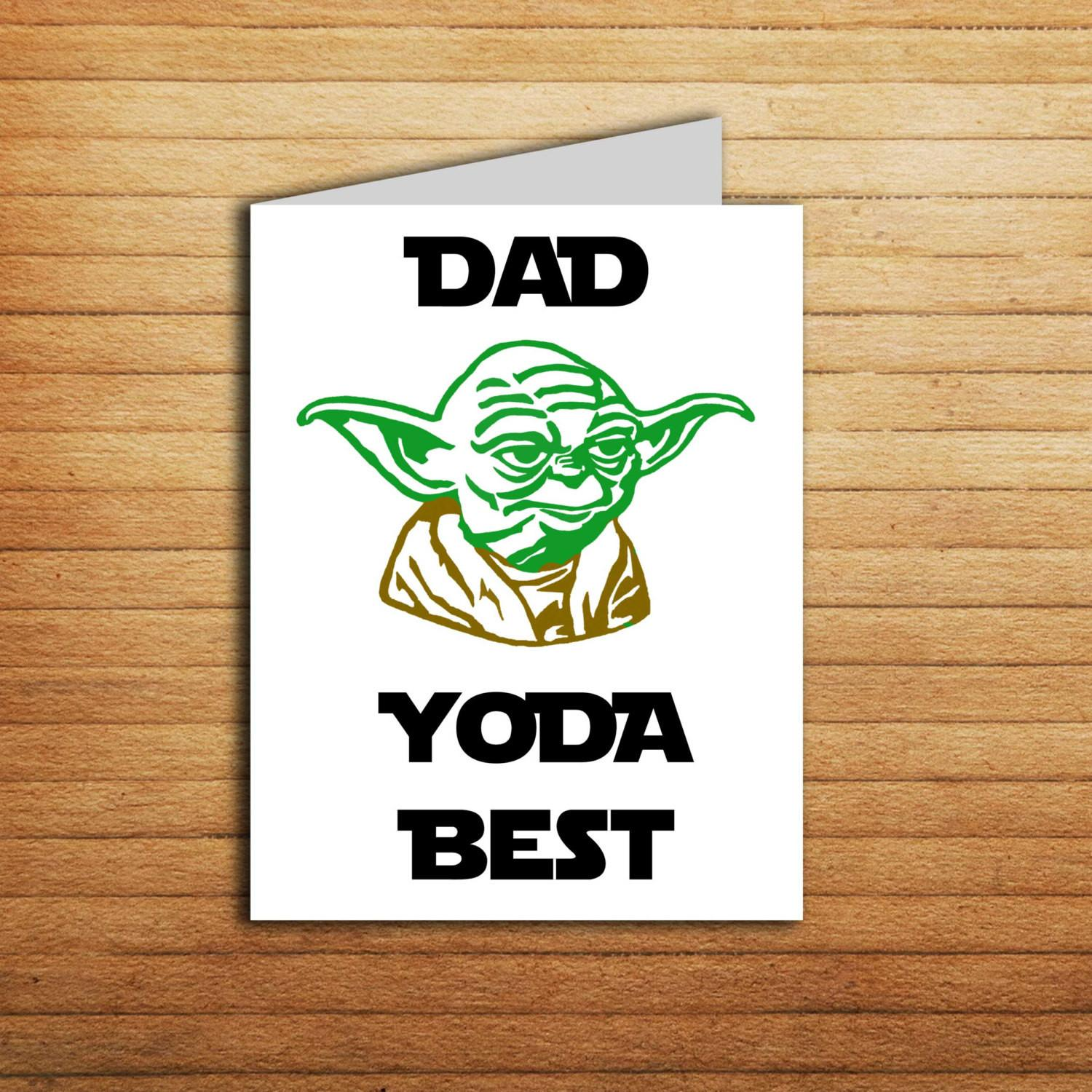 Star Wars Card Printable Father Day Dad