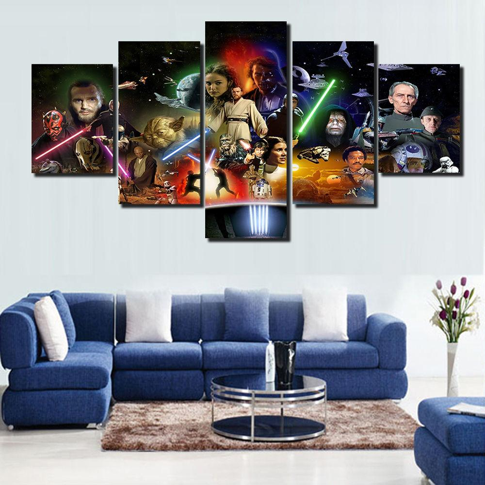 Star Wars Posters Large Home Decor Art Painting