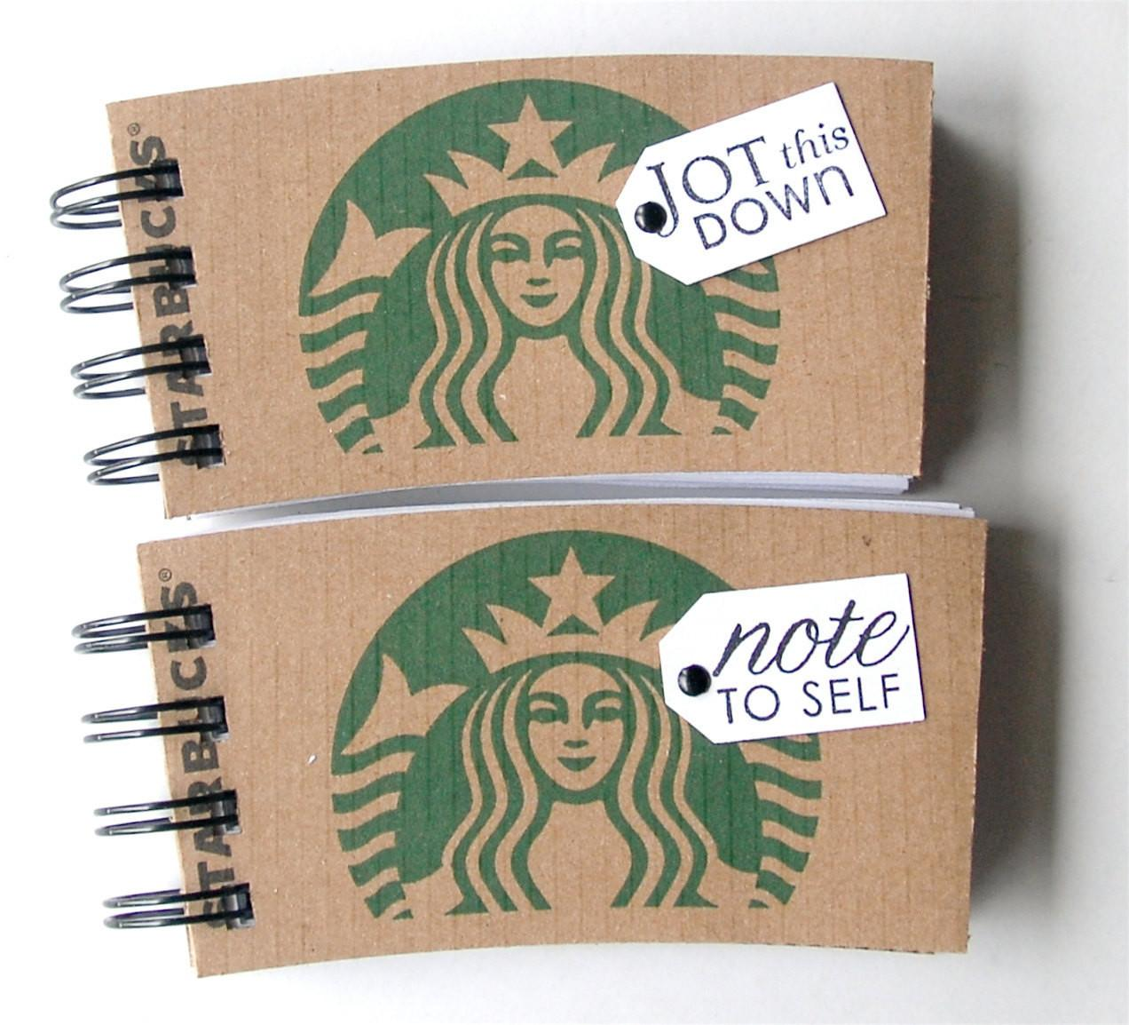 Starbucks Notebook Made Out Coffee Sleeves Set