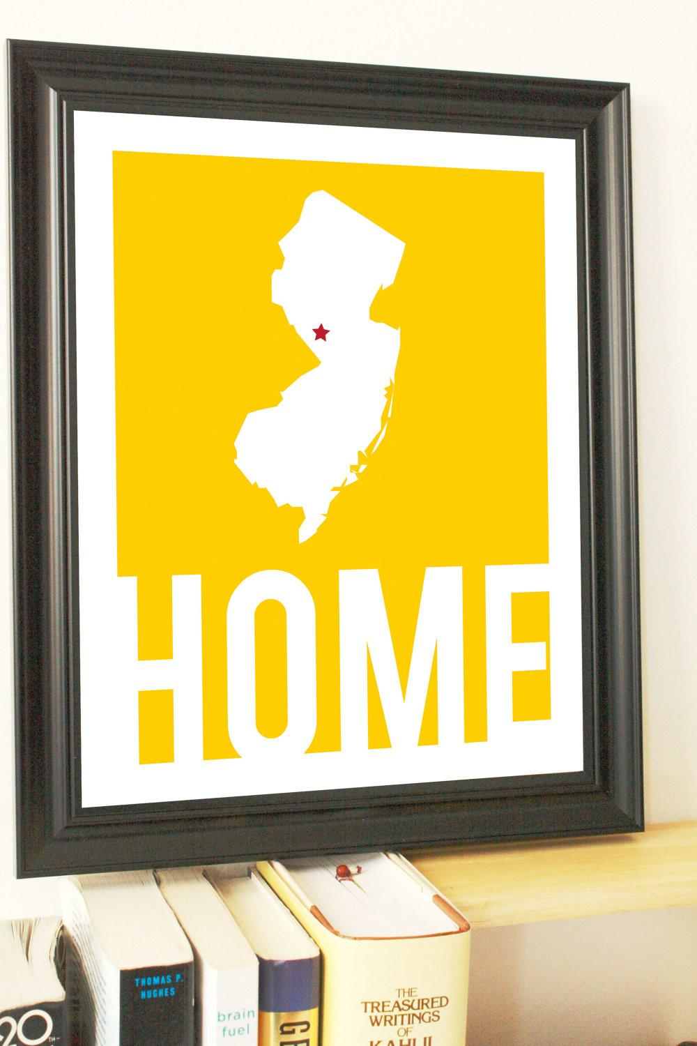 State Art Gifts New Jersey Map