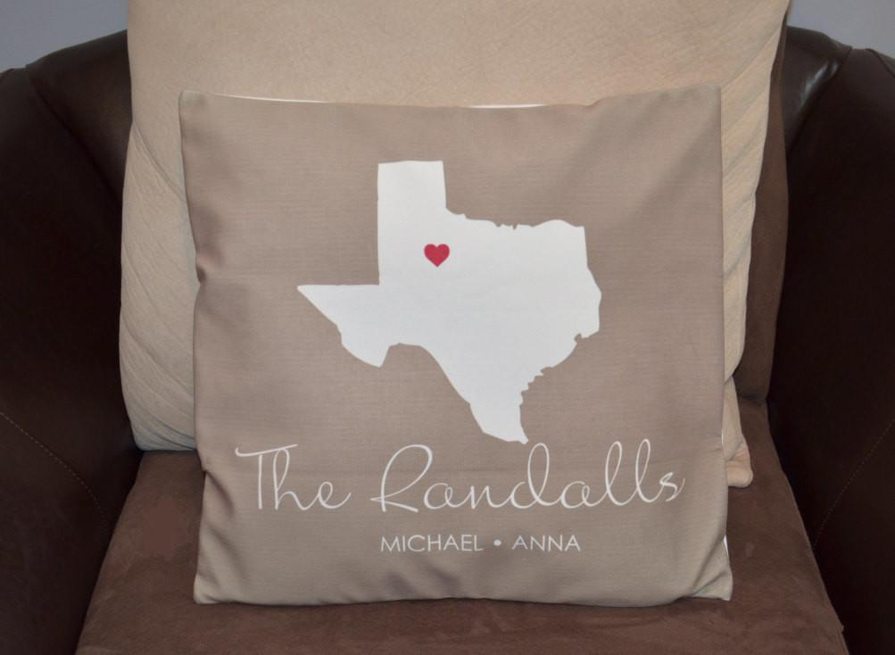 State Pillow Cover New Family Decorative Throw