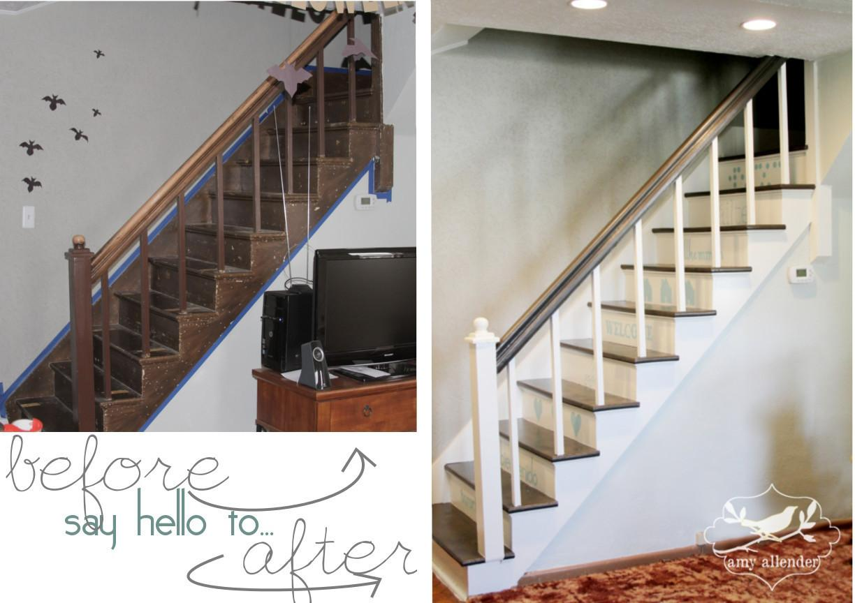 Statement Stair Makeover Did Amy Allender